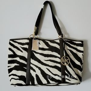 Michael kors Toger Print XL Canvas tote(Brand New)